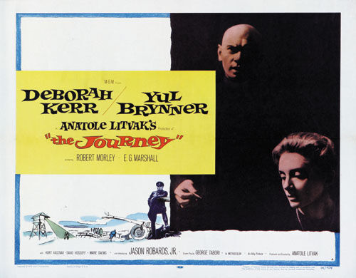 The journey Deborah Kerr Yul Brynner movie poster