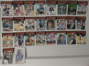 1986-Topps-Minnesota-Twins-Team-Set-of-26-Baseball-Cards