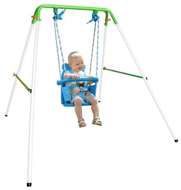 Toddler Kids Baby Swing Set Indoor Outdoor Backyard Swingset Folding