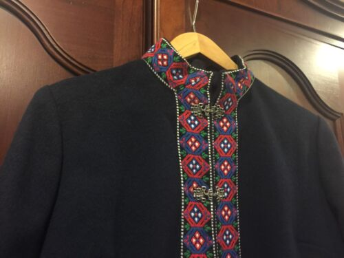 pure m Danico Vintage laine Design Marine Scandinavian crochets fermetures Euc métalliques S PpfxqXwa5