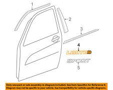 06 07 08 09 10 11 12 Toyota Rav4 Limited Door Emblem 1pc OEM Name plate Symbol