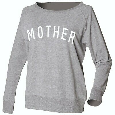 Women's Ladies Sweatshirt Casual Long Sleeve Wide Neck Mother Angenehm Im Nachgeschmack