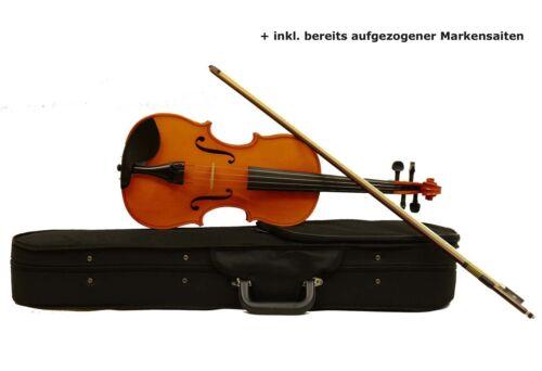 Basic II mit Bogen,Koffer,Markensaiten Sinfonie24 Bratschen-Set in Bernstein