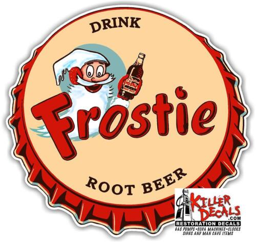 "15/"" FROSTIE ROOT BEER CAP COOLER POP soda machine decal"