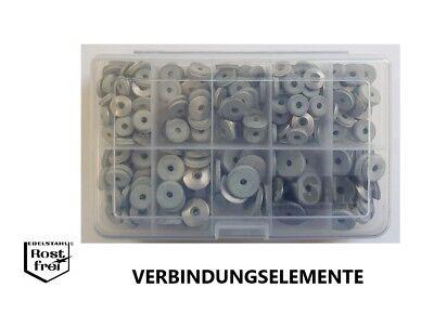 mit grauem EPDM rostfrei V2A 50 Stück Dichtscheiben Edelstahl A2 5,3X12