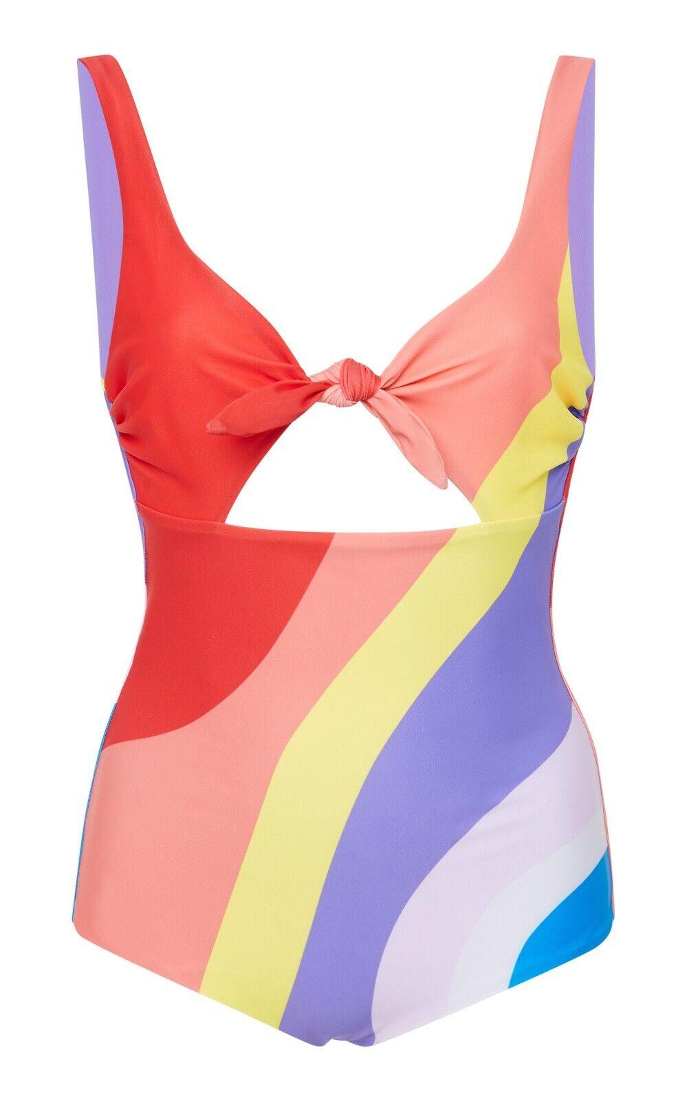 Mara Hoffman Tie Front One Piece Swimsuit