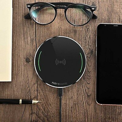 QI Certified Wireless Charger Charging Pad for iPhone X, iPhone 8, Galaxy Note 8