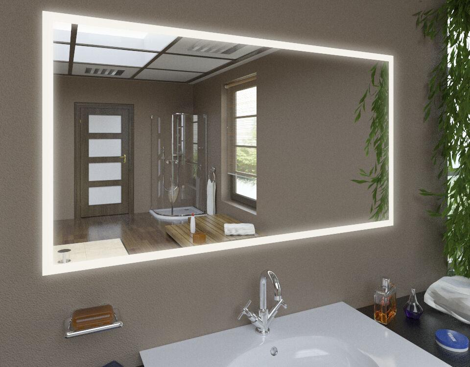 LED Spiegel CLASSIC mit Beleuchtung Wandspiegel Badspiegel  Maß nach Wunsch