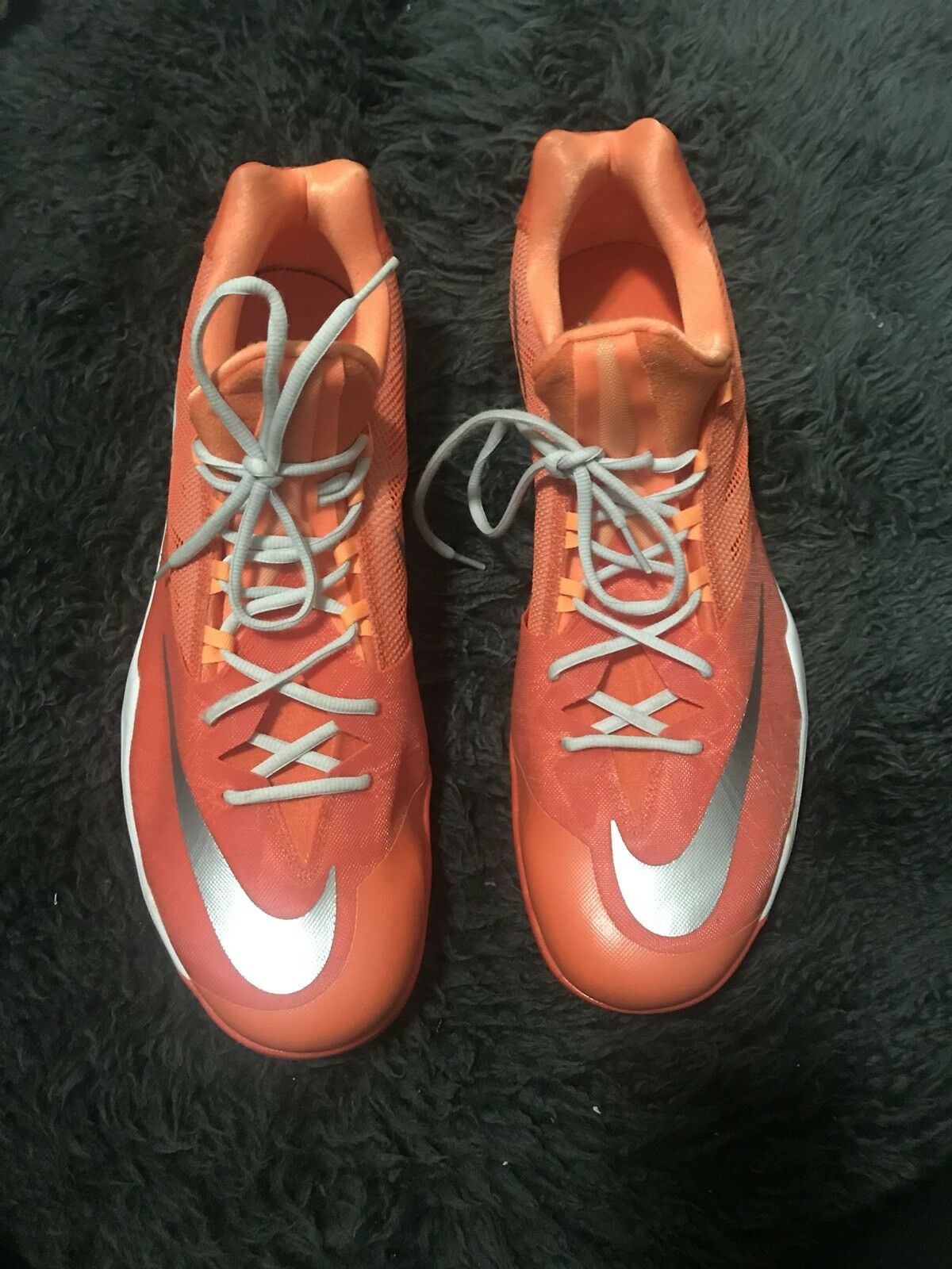 0dbf23557346 NIKE NIKE NIKE Mens Zoom Orange Mesh Detail Sneakers Size 18 d776ae ...