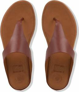 5281b874046a86 FitFlop™ BANDA II™ Ladies Womens Leather Toe Post Flip Flop Beach ...