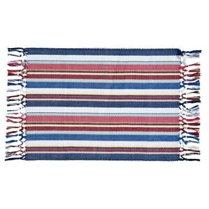 Set-of-2-HEARTLAND-STRIPE-Cotton-Placemats