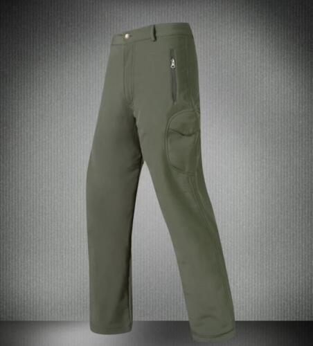 UK Mens Military Shark Skin Soft Shell Waterproof Fleece Trousers Outdoor Pants