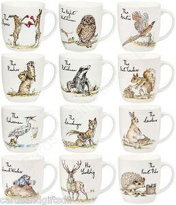 Churchill-Country-Pursuits-China-Mug-Fox-Hare-Owl-Badger-Otter-Stork-Mole-Goose