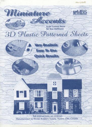 "Slate Tile Roof Sheet Beige 1//12 scale Model Builders Supply SLT-12  14/""x24/"" 1pc"