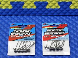 Z-Man Finesse ShroomZ Ned Rig Jigheads 5-Pack CHOOSE SIZE AND COLOR