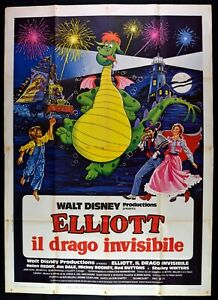 M237-Manifesto-4F-Elliott-Dragon-Invisible-Walt-Disney-1-Edicion-Italiana