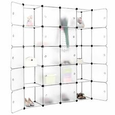20 Cubby Shelving Closet System Cube Organizer Plastic Storage Cubes Drawer DIY  sc 1 st  eBay & LANGRIA 20 Cubby Shelving Closet System Cube Organizer Plastic ...
