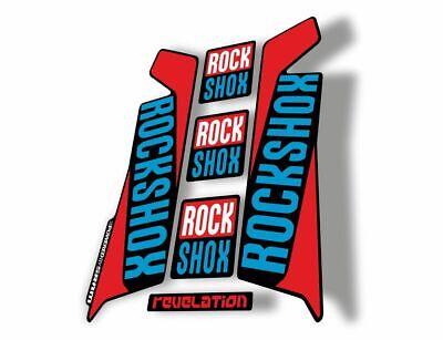 Rock Shox REVELATION 2012 Mountain Bike Cycling Decal Sticker Adhesive Red