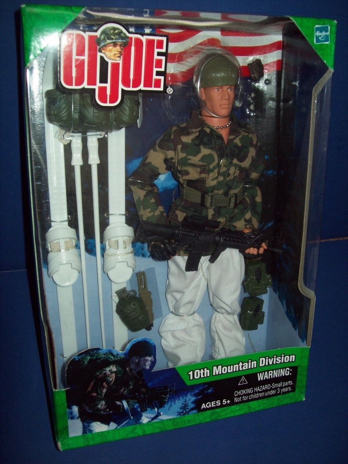 Gi - joe 10th mountain division hasbro 2003 mit roten haaren versiegelt nib