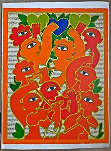 Herbert-Schneider-Grosse-Orig-Lithographie-1960-70er-Probe-74x55cm-nicht-signiert