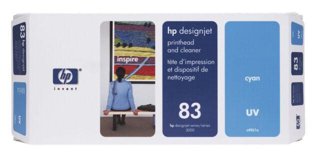Hp Cabezal de Impresión Designjet 5000 5500 Ps / Nr. 83 C4961A Cian - Fecha 2018