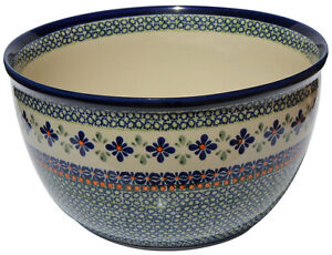 Polish Pottery Mixing Bowl 5 Qt. GU986-du60 Zaklady