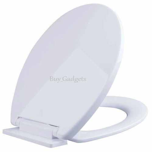 Quick Release Soft Close Toilet Seat White Round Oval Bathroom Heavy Duty Topfix