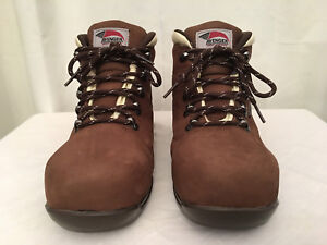 Brown Composite Toe WP Work Boot, Sz 8w