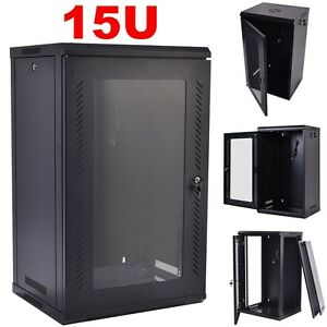 15u Wall Mount Network Server Data Cabinet Enclosure Rack