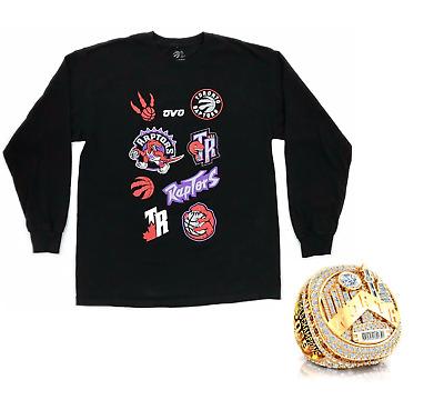 2019 Toronto Raptors NBA Finals OVO Logo Long Sleeve Shirt + Championship Ring   eBay