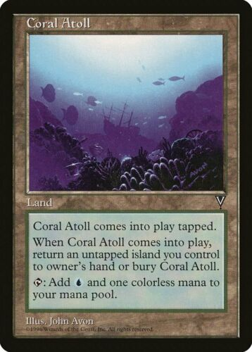 Coral Atoll Visions PLD Land Uncommon MAGIC THE GATHERING MTG CARD ABUGames