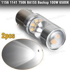 2pc 6500K 100W 1156 7506 Bright White LED Backup Light Reverse Lamp for BMW