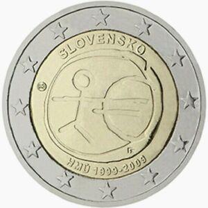 2 Euro SLOVAQUIE commémorative 2009 10 ans de l'Euro UEM NOUVEAU PROMO JUIN