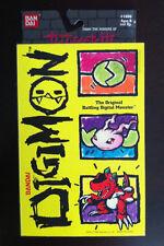 1997 Bandai DigiMon Tamagotchi Keychain Clear ORIGINAL RARE CIB MIB