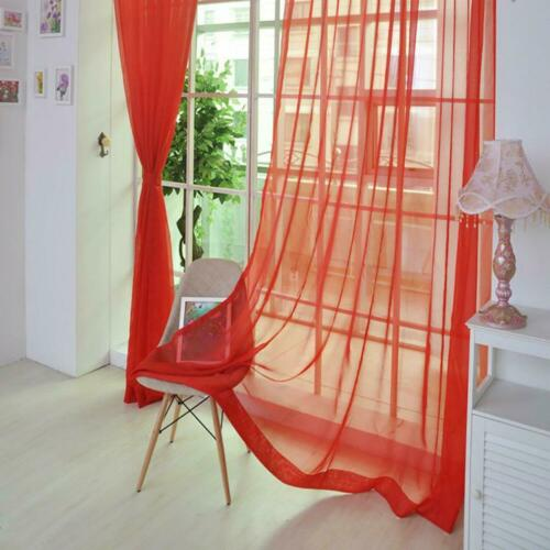 Door Window Curtain Valance Elegant Sheer Voile Drape Panel Sheer Scarf Pelmet C