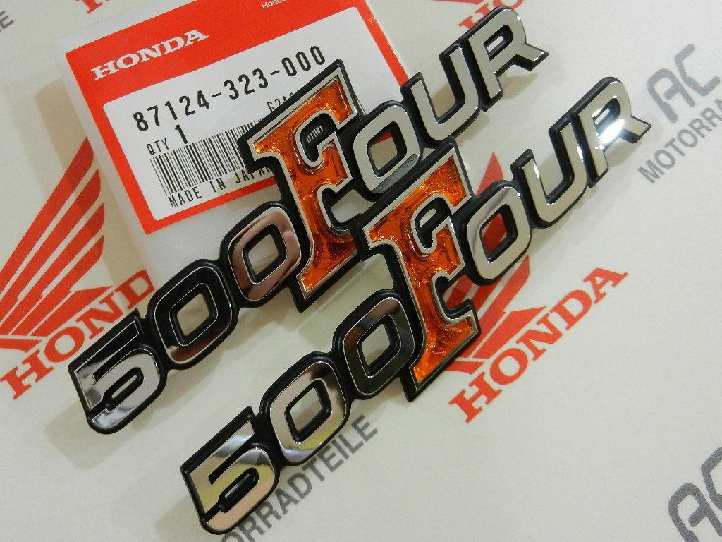 Honda CB 500 Four K0 K1 K2 Side Cover Decal Badge Kit Original New