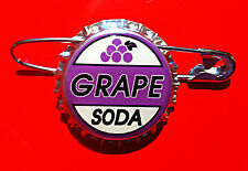 Grape Soda Bottle Cap Pin Ellie Badge
