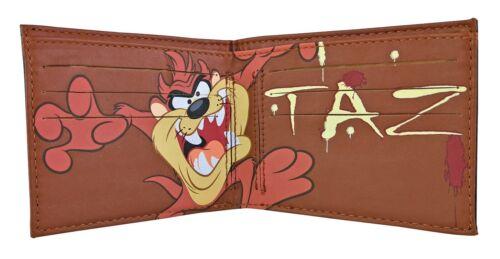 Mens PU Faux Leather Looney Tunes Flintstones Cartoon Wallet Taz Daffy duck