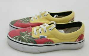 Vans Womens Size 5.5 Floral Yellow Red