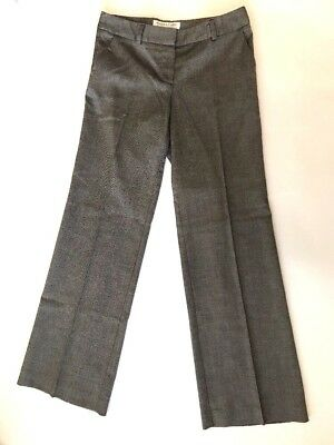 Trina Turk Womens Black White Tweed Flat Front Dress Pant Size 6 100% Guarantee Clothing, Shoes & Accessories