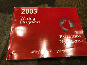 2003 Ford Expedition Lincoln Navigator Wiring Diagrams Electrical Service Manual Ebay