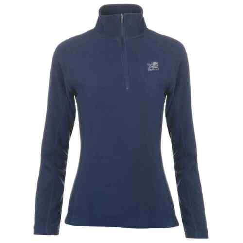 Womens Karrimor Microfleece Quarter Zip Fleece Top Long Sleeve New