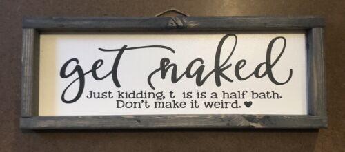 Dark Grey Get Naked DIY Sign Or Wall Decal