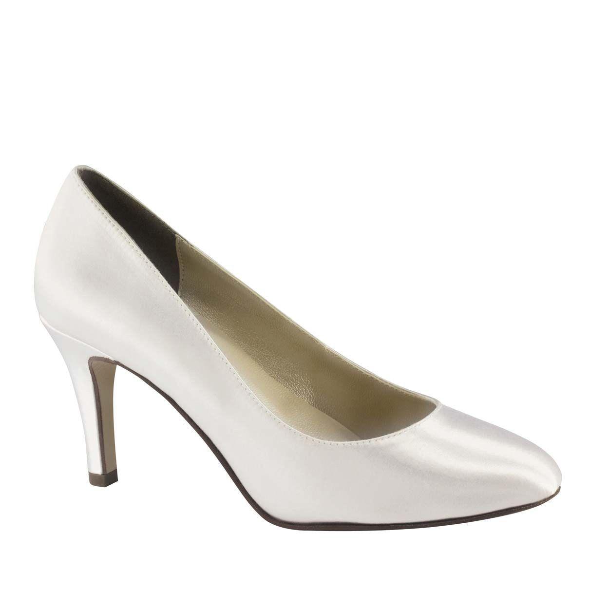 damen's Touch Ups Heel Sandra Mid Heel Ups Pump Weiß Größe 10  NCM20-M49 16fd60