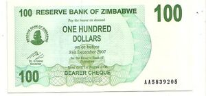 Zimbabwe-100-dollars-2006-bearer-cheque-FDS-UNC-pick-42-lotto-3609