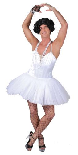 Blanc homme ballerine danseur masculin costume robe fantaisie parti ballet vêtements grandes