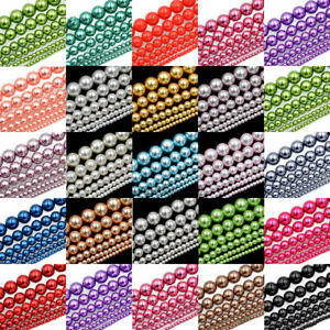 100pcs-Top-Quality-Czech-Glass-Pearl-Round-Beads-Choose-3MM-4MM-6MM-8MM-10MM