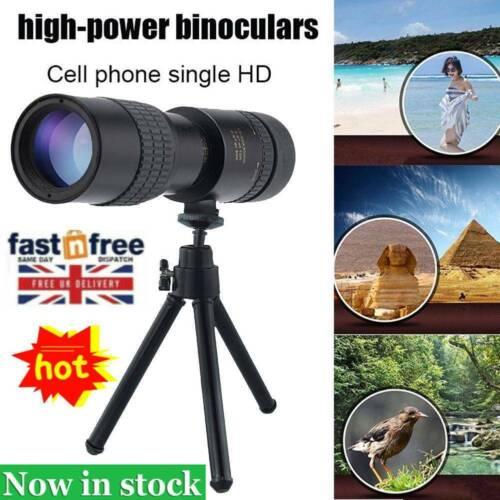 Portable 4K 10-300*40mm Super Telephoto Zoom Monocular Telescope High Quality UK