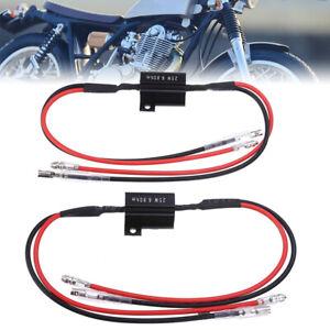 2x-Widerstaende-Kabel-LED-Mini-Blinker-Motorrad-6-8Ohm-25W-Widerstand-Wiederstand