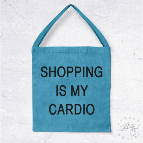 NEW Tote Bag Shopping Is My Cardio BIO Shop Mall Magasins Leche Vitrine Sport